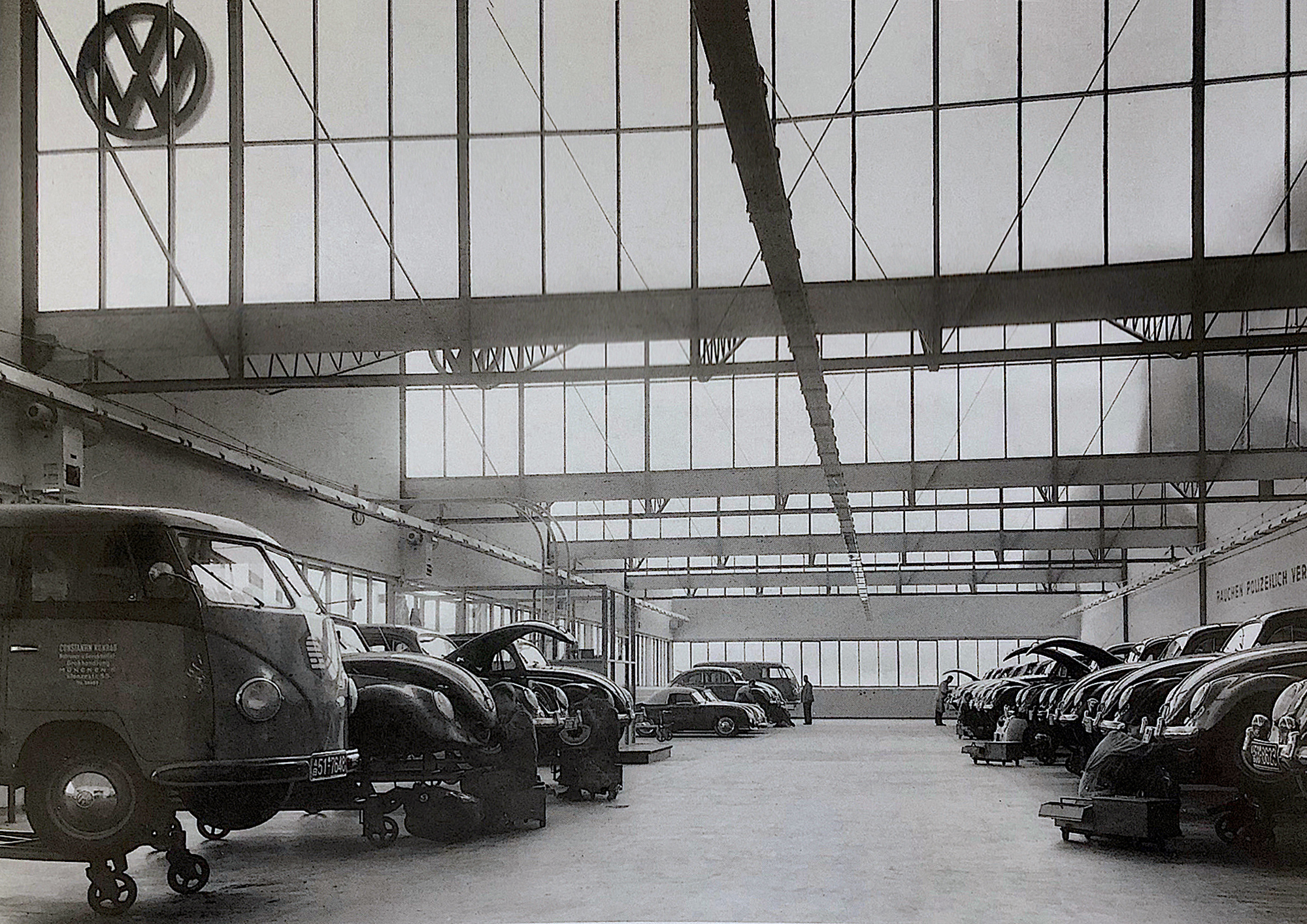 Historic shed hall around 1952